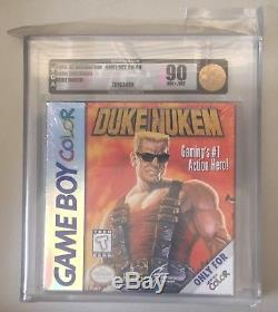 Nintendo Game Boy Color GBC DUKE NUKEM VGA 90 Gold Level Rare Grail