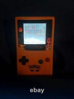 Nintendo Game Boy Color GBC Frontlight Front Light Frontlit Mod Pokemon Yellow