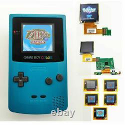 Nintendo Game Boy Color GBC System Backlight Backlit Brighter Mod Teal Blue