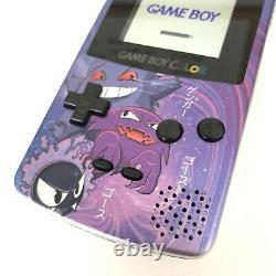 Nintendo Game Boy Color Handheld Console Ips Backlight Pokemon Gengar Silver
