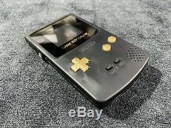 Nintendo Game Boy Color LIGHT Black/Gold BennVenn Freckleshack