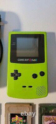Nintendo Game Boy Color Launch Edition Kiwi Handheld System Bundle