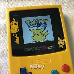 Nintendo Game Boy Color Light Pikachu Yellowithblue (Backlight Mod)