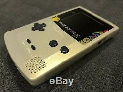 Nintendo Game Boy Color Light Pokemon Gold/Silver (IPS Backlight Mod)