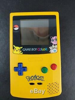 Nintendo Game Boy Color Limited Pokemon Yellow Edition System Complete Box READ