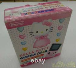 Nintendo Game Boy Color Pink Hello Kitty Limited Edition & SWEET adventure JP
