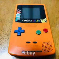 Nintendo Game Boy Color Pokemon Center 3 years Anniversary Console Orange Used