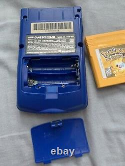 Nintendo Game Boy Color Pokemon Edition Handheld System Complete In Box Yellow