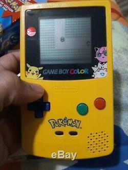Nintendo Game Boy Color Pokemon Edition Handheld System Yellow CIB. See photos