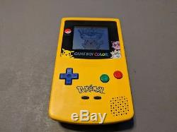 Nintendo Game Boy Color Pokemon Edition Yellow Handheld System Complete Box CIB