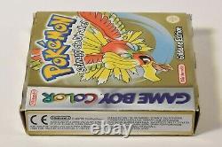 Nintendo Game Boy Color, Pokemon Goldene Edition, OVP, CIB, speichern möglich