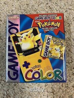 Nintendo Game Boy Color Pokemon (Pokémon Pikachu) Yellow Version withbox