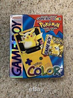 Nintendo Game Boy Color Pokemon (Pokémon Pikachu) Yellow Version withbox & Game