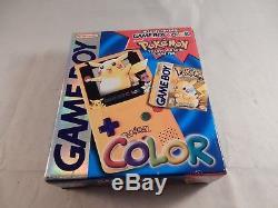 Nintendo Game Boy Color Pokemon Yellow Pikachu System (NEW, SEALED!) #S733