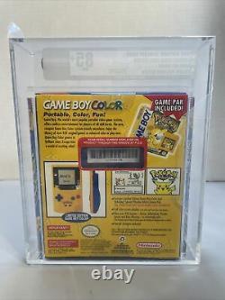 Nintendo Game Boy Color Pokemon Yellow Version Pikachu VGA 85+ NM+ Graded Rare