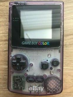 Nintendo Game Boy Color Purple Bundle with 7 games (Pokemon, Tecmo Bowl, Missile)