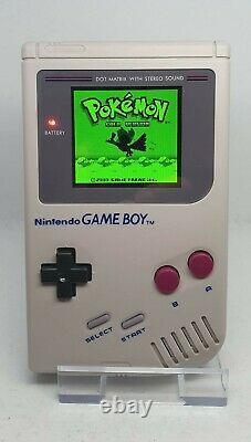 Nintendo Game Boy DMG-01 Handheld (Grey) IPS Modded (Backlit & Multi-colour)
