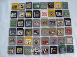 Nintendo Game Boy & Gameboy Color Cartridge Wholesale Lot 136 Carts GB Japan