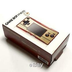Nintendo Game Boy Micro 20th Anniversary Edition NES Color With Mario Games USED