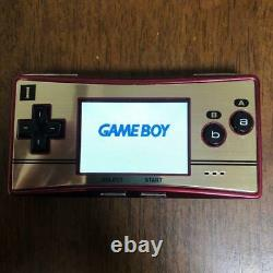 Nintendo Game Boy Micro 20th anniversary NES Color Console & Adapter With Box Mint