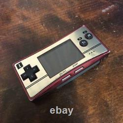 Nintendo Game Boy Micro Famicom Color Console With Charger NES From Japan