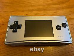 Nintendo Game Boy Micro Silver Console Japanese Version Plus Big Games Bundle