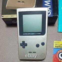 Nintendo Game boy Light Gold color console MGB-101, Manual, Boxed set-c0610