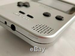 Nintendo Game boy Light Silver color console MGB-101, Manual, Boxed set-b1115
