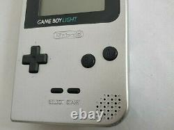 Nintendo Game boy Light Silver color console MGB-101, Manual, Boxed set-d0318
