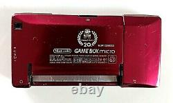 Nintendo Game boy Micro Famicom Console 20th Color Anniversary Gold/Red TESTED