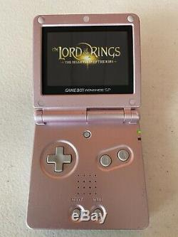 Nintendo GameBoy Advance SP AGS-101 DUAL LIGHTED SCREEN (COLOR PINK)