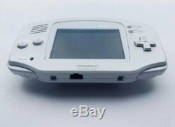 Nintendo GameBoy Advance White IPS V2 Funnyplaying With Brightness Control GBA