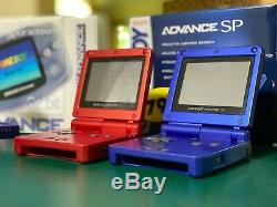 Nintendo GameBoy Color + Advance + 2 SP's + Lot 10 Games, Boxes, Cases, & Light