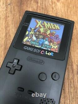 Nintendo GameBoy Color Colour Game Boy Black BACKLIT Handheld Gaming Q5 OSD IPS