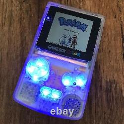 Nintendo GameBoy Color Colour Game Boy Clear BACKLIT Gaming Console IPS OSD LED