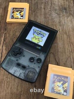 Nintendo GameBoy Color Colour Game Boy Clear Black BACKLIT Gaming Console IPS 2