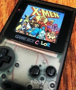 Nintendo GameBoy Color Colour Game Boy Clear Black BACKLIT Gaming Q5 OSD IPS