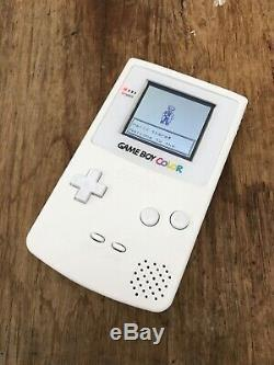 Nintendo GameBoy Color Colour Game Boy Handheld White BACKLIT Gaming Console