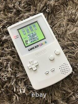 Nintendo GameBoy Color Colour Game Boy Handheld White BACKLIT Gaming Console IPS