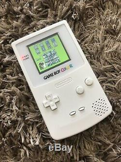 Nintendo GameBoy Color Colour Game Boy Handheld White BACKLIT TF Gaming Console