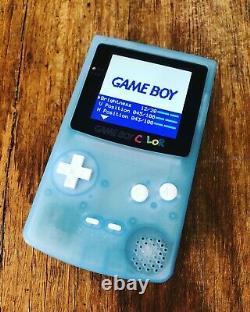 Nintendo GameBoy Color Colour Game Boy Light Blue BACKLIT Gaming Q5 OSD IPS
