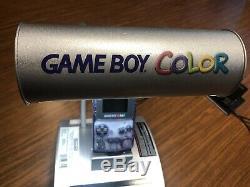 Nintendo GameBoy Color GBC Retail Kiosk + Console + Super Mario Bros Deluxe Game