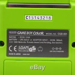 Nintendo GameBoy Color Konsole GRÜN NEU NEW OVP MINT UNBESPIELT