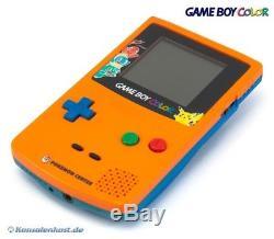 Nintendo GameBoy Color Konsole #Orange & Blue Pokemon Center Edition