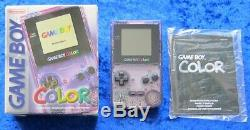 Nintendo GameBoy Color Konsole in Violett/Lila Transparent, OVP + Anl