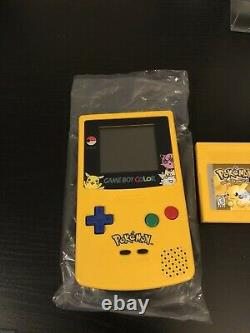 Nintendo GameBoy Color Pikachu Edition Pokemon Yellow 100% Complete In Box