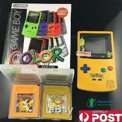 Nintendo GameBoy Color handheld console comes with Pokemon GBC