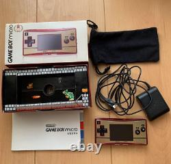 Nintendo GameBoy Micro 20th Anniversary Edition Famicom Color Boxed Used Japan