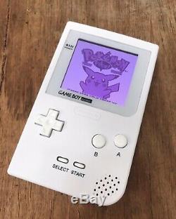 Nintendo GameBoy Pocket Refurbished Colour Game Boy Handheld White BACKLIT IPS