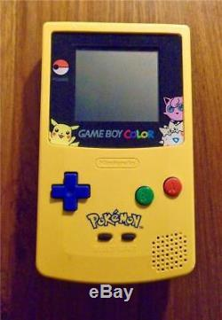 Nintendo Gameboy COLOR Pokemon Yellow Pikachu Special Edition GBC System Console